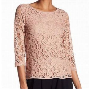 Adrianna Papell Lace Blouse